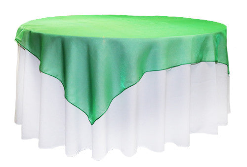 Christmas Green Organza Square 2m Overlay