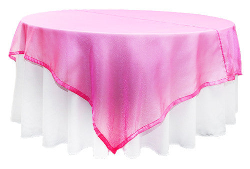 Hot Pink Organza Square 2m Overlay