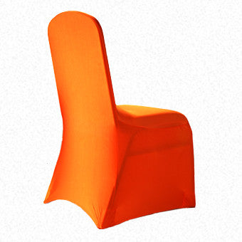 Orange Lycra  chair cover