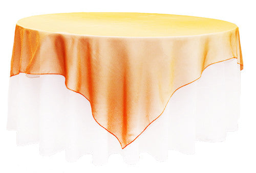 Orange Organza 2m Square Overlay