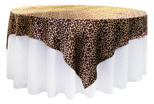 Leopard Brown Silk Square 2m Overlay
