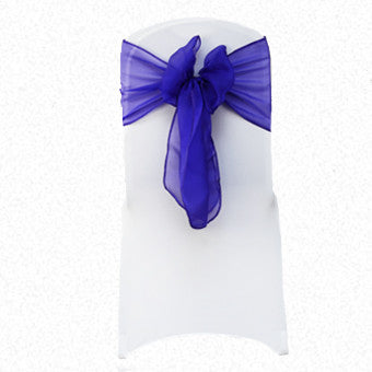 Purple RE Organza Sash