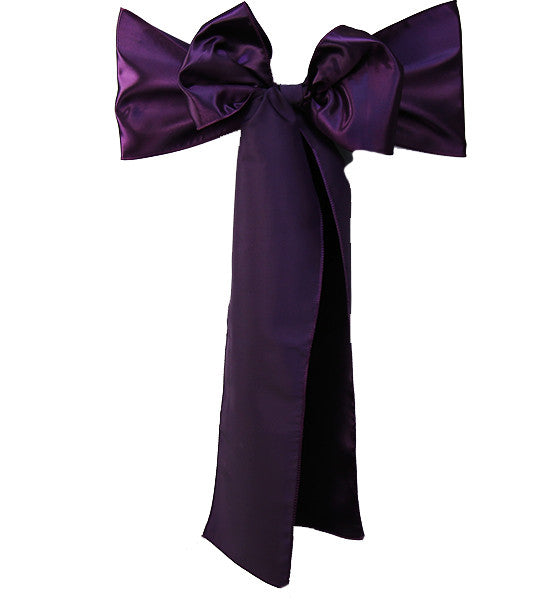 Purple Satin Sash
