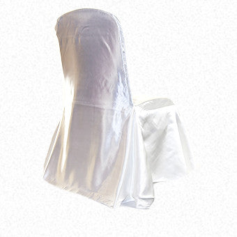 White Satin LF Freeflow/drop chair cover