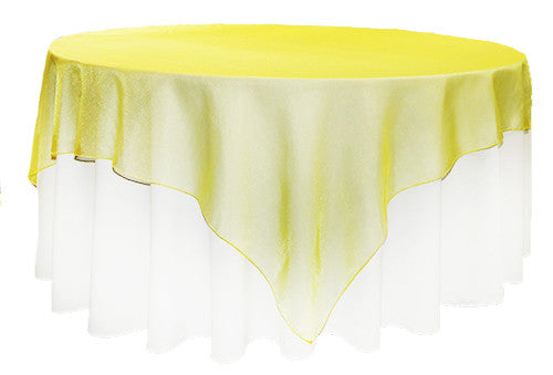 Yellow Organza 2m Square Overlay