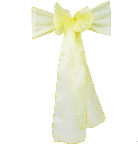 Yellow Organza Sash