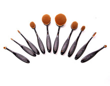 Load image into Gallery viewer, Oval Brush 10 pc set