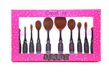 Oval Brush 10 pc set