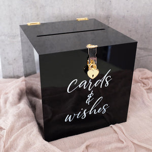 Acrylic Black Wishing Well Box