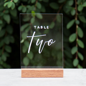 Acrylic A5 Modern Table Numbers - FoxAndHart