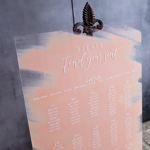 Acrylic Portrait Classic Blush Seating Sign