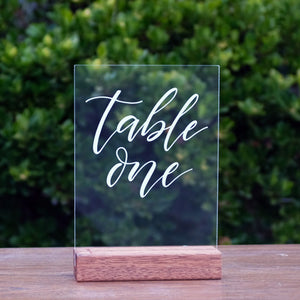 Acrylic A5 Classic Table Numbers
