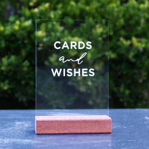 Laser Acrylic Cards and Wishes