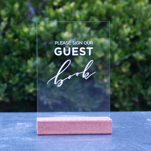 Laser Acrylic A5 Guest Book Sign