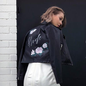 Hire Me: The Floral Bride Leather Jacket