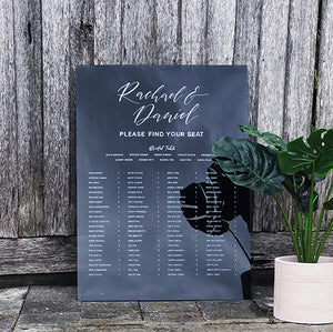 Tint Black Acrylic Table Seating Sign - FoxAndHart