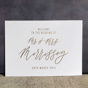 Acrylic Landscape Classic White Welcome Sign