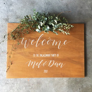Wooden Welcome Sign - FoxAndHart