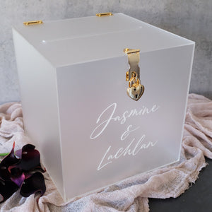 Acrylic Frosted Clear Wishing Well Box