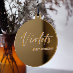 Acrylic Christmas Ornament Personalised