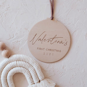 Wooden Christmas Ornament For Kids
