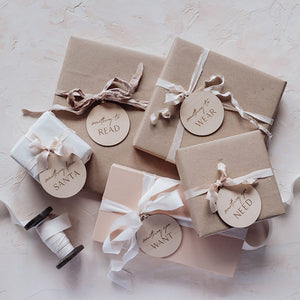 Wooden Christmas Gift Tags For Kids