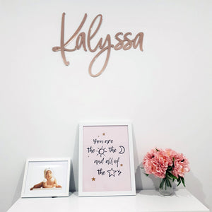 Acrylic Nursery Name Sign