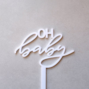 Acrylic Oh Baby Cake Topper