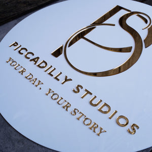 Acrylic Round Logo Business Signs
