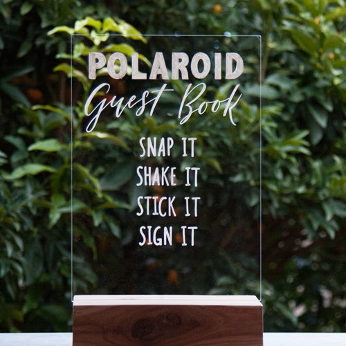 Acrylic Polaroid Guest Book Sign