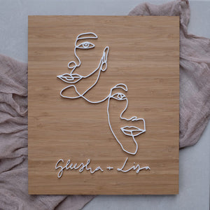 Wooden Acrylic Abstract Portrait Name Sign
