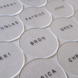Round Acrylic Place Card
