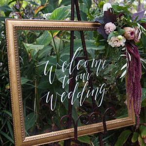 Acrylic Landscape Classic Welcome To Our Wedding Sign - FoxAndHart