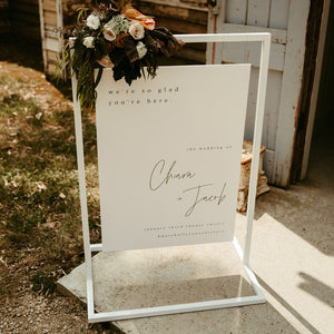 Hire Me: White Signage Hanging Frame, Small