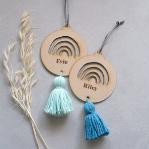 Wooden Rainbow Tassel Names