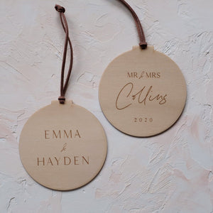Wooden Christmas Ornaments for Couples