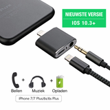 2-IN-1 Audio- en Oplaadadapter voor iPhone 7