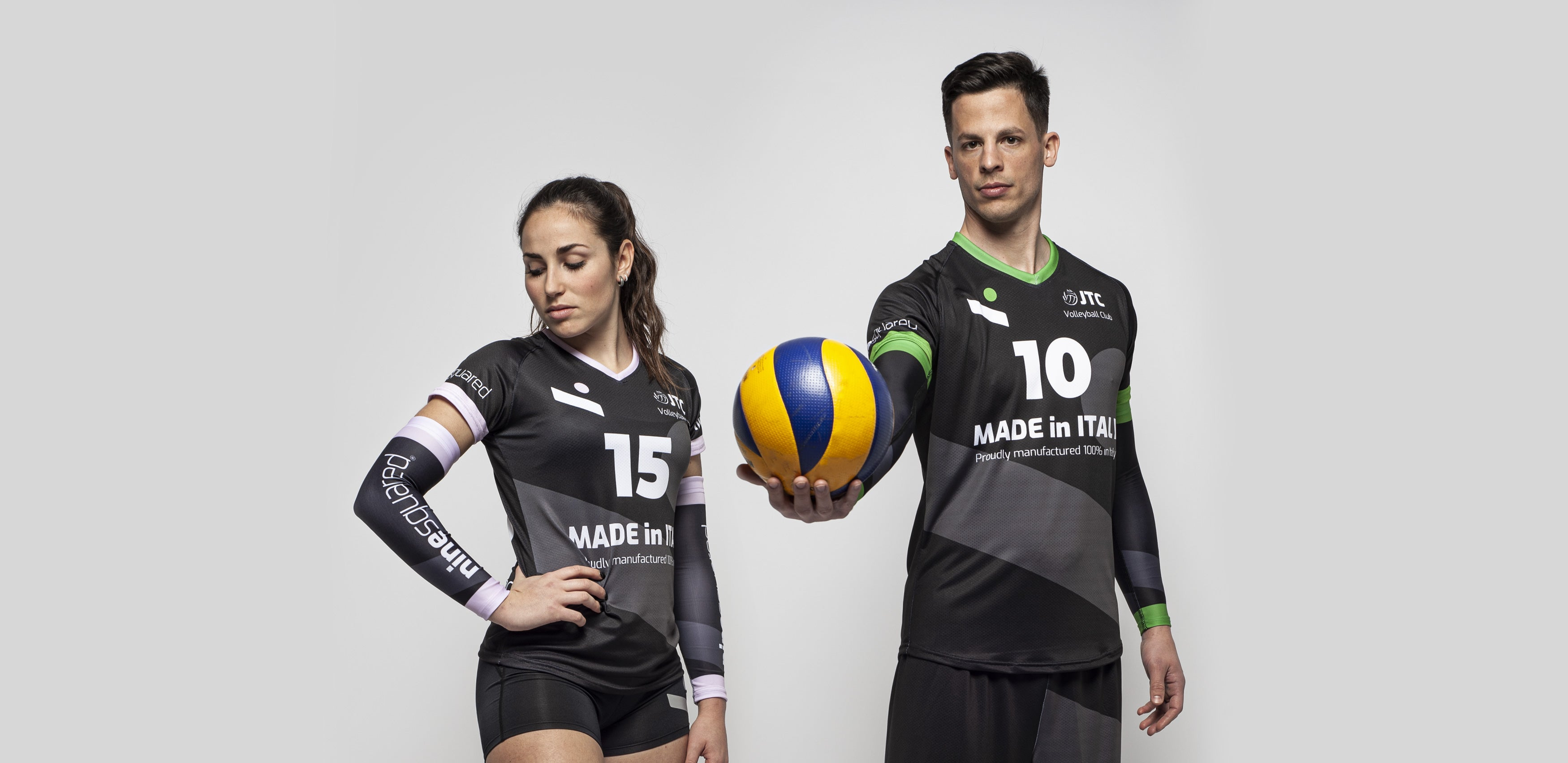 Ninesquared Teamwear man woman volleyball
