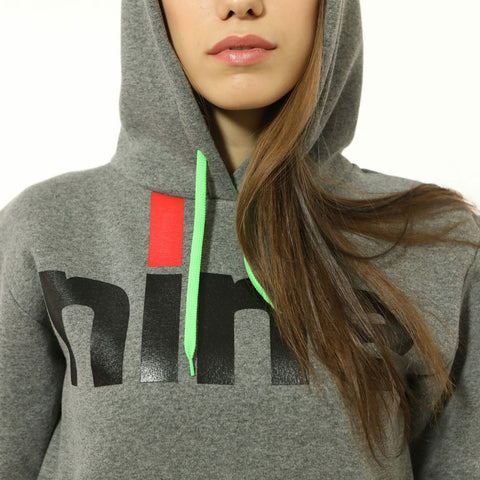 ninesquared donna hoodie felpa pallavolo volleyball Grey
