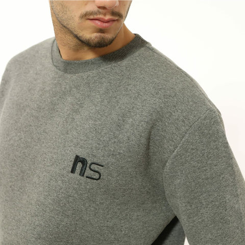 ninesquared uomo felpa sweater pallavolo volleyball Grey