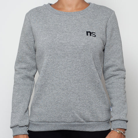 ninesquared donna felpa sweater pallavolo volleyball Grey