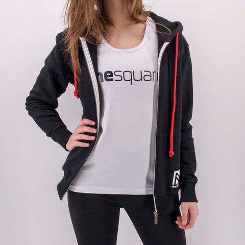 ninesquared donna hoodie felpa pallavolo volleyball Black