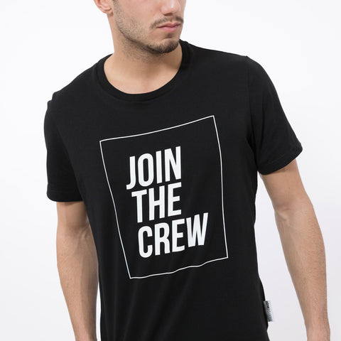 t-shirt maglietta ninesquared join the crew uomo man pallavolo volleyball beach Black