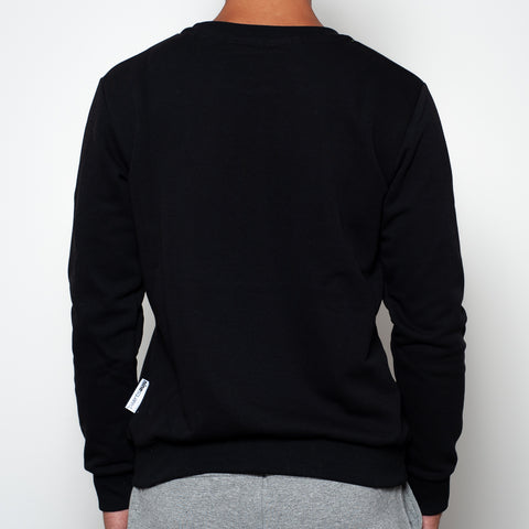 ninesquared uomo felpa sweater pallavolo volleyball Black