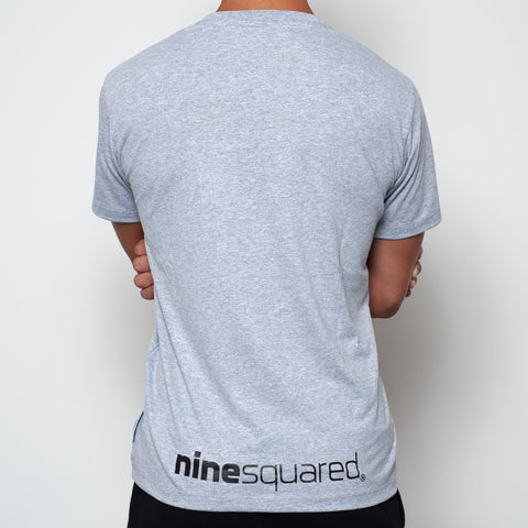 t-shirt maglietta ninesquared join the crew uomo man pallavolo volleyball beach Grey