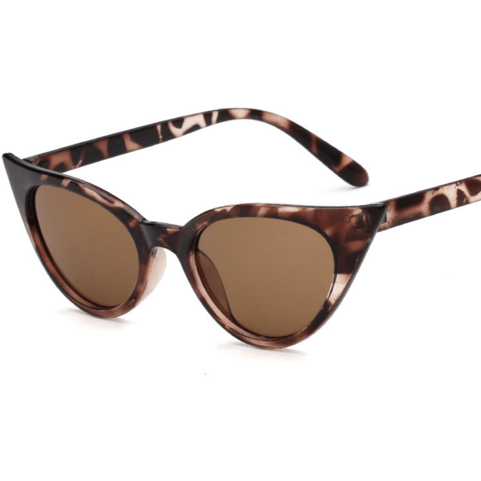 """Gina"" Catseye Sunglasses - Leopard - Plus Size Pin Up - Sour Cherry Designs - Plus Sized Pin Up - Plus Size Pin Up  