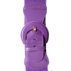 """Patent"" Stretch Belt - Plus Size - Grape - Sour Cherry Designs - Plus Sized Pin Up - Plus Size Pin Up  