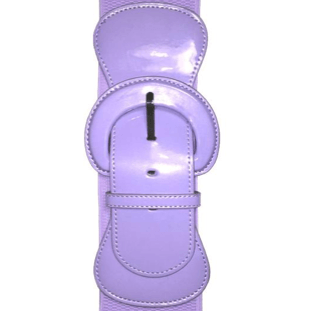 """Patent"" Stretch Belt - Plus Size - Lavender - Sour Cherry Designs - Plus Sized Pin Up 