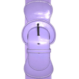 """Patent"" Stretch Belt - Plus Size - Lavender - Sour Cherry Designs - Plus Sized Pin Up - Plus Size Pin Up"