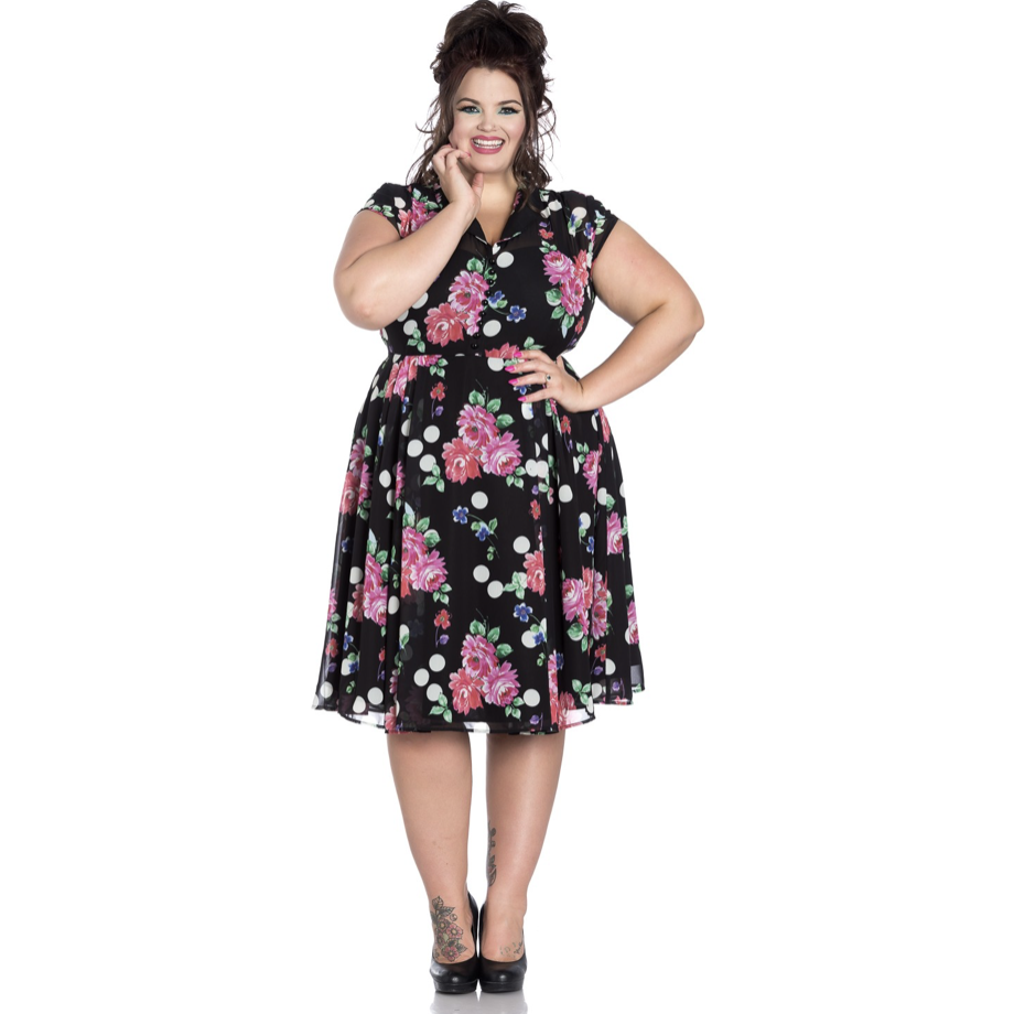 Bloomsbury Dress  - Hell Bunny- Plus Size - Sour Cherry Designs - Plus Sized Pin Up | Bloomsbury Dress  - Hell Bunny- Plus Size